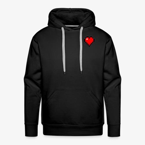 Coeur cubique - Sweat-shirt à capuche Premium pour hommes