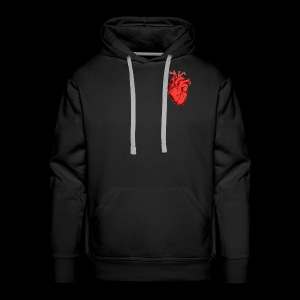 Red Heart - Sweat-shirt à capuche Premium pour hommes