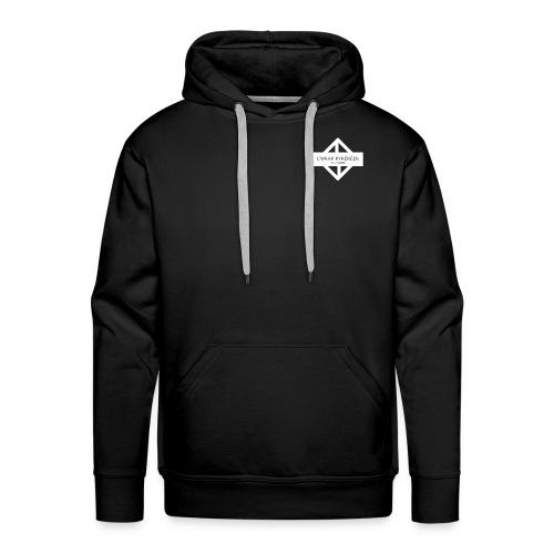 WRAP logo blanc - Sweat-shirt à capuche Premium pour hommes