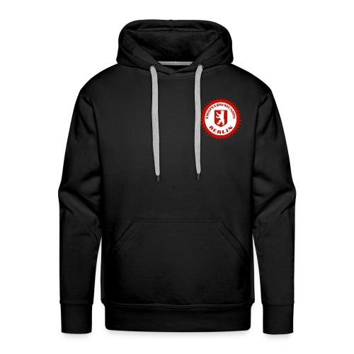 Logo in Rot Weiß - Männer Premium Hoodie