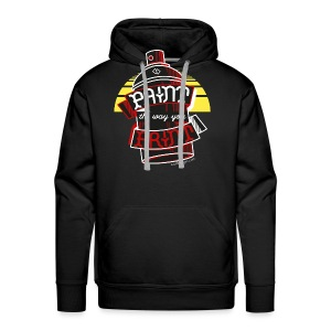 Paint the way you Print - Black - Mannen Premium hoodie