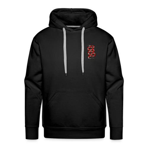 Serpent rouge rayé - Sweat-shirt à capuche Premium pour hommes