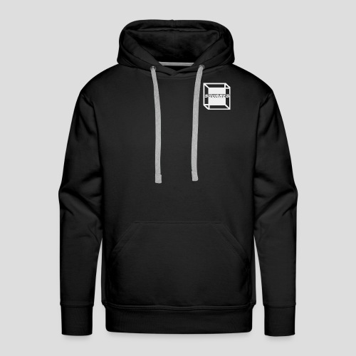 Squared Apparel White Logo - Men's Premium Hoodie