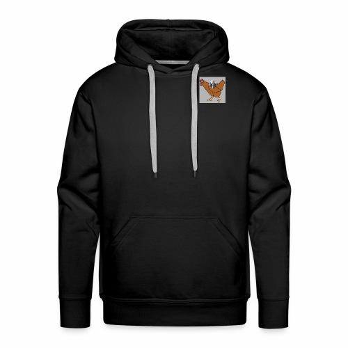 Triumvirate Chicken Logo - Men's Premium Hoodie