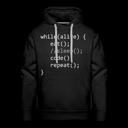 Code While Alive - Männer Premium Hoodie