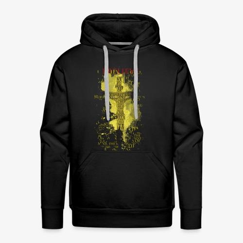 I believe / wierzę (yellow-żółty) - Bluza męska Premium z kapturem