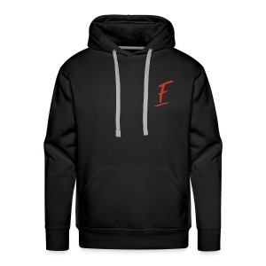 Radio Fugue F Rouge - Sweat-shirt à capuche Premium pour hommes