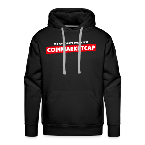 MY FAVORITE WEBSITE? COINMARKETCAP - Men's Premium Hoodie