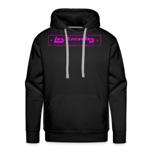 Rocking since 2001! Pink - Sweat-shirt à capuche Premium pour hommes