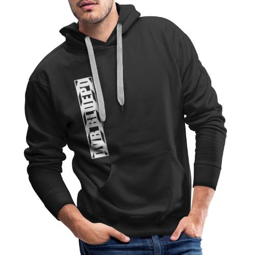 dvb bluepo side clapper white on black - Mannen Premium hoodie