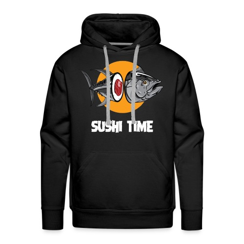 SUSHI TIME-tonno-b - Felpa con cappuccio premium da uomo