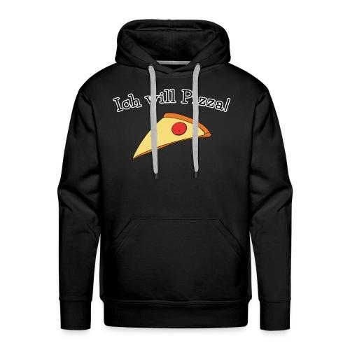 Ich will Pizza das Design zum Kartenspiel - Männer Premium Hoodie