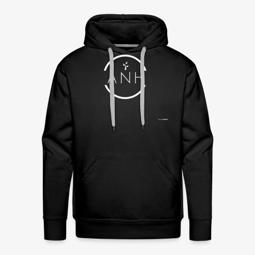 ANH white logo - Men's Premium Hoodie