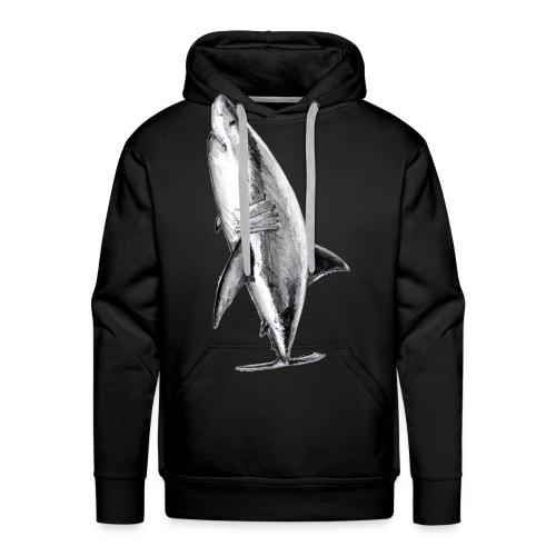 Gran tiburón blanco - Great white shark - Sudadera con capucha premium para hombre