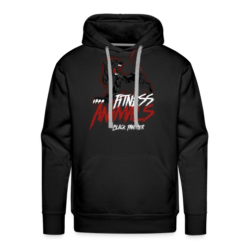 Fitness Animals - Black Panther - Männer Premium Hoodie