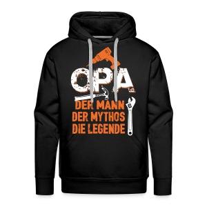 opa der mann der mythos die legende - bester opa - Sweat-shirt à capuche Premium pour hommes