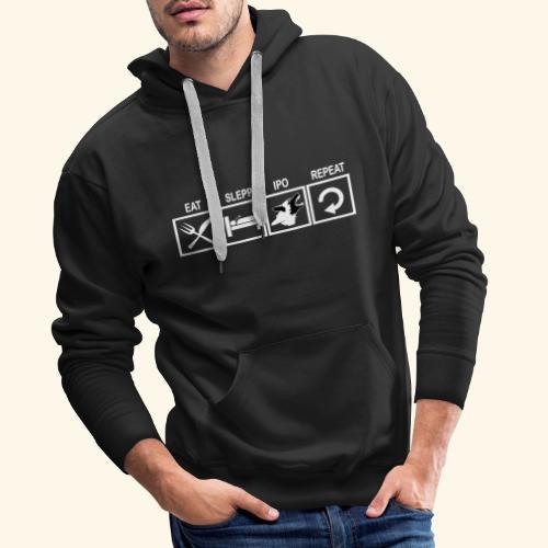 Hundsport T-Shirt IPO Training Eat Sleep Repeat - Männer Premium Hoodie