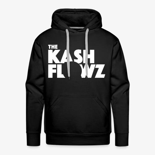 The Kash Flowz Official Logo White - Sweat-shirt à capuche Premium pour hommes
