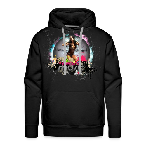 Chica_electro_music-png - Sudadera con capucha premium para hombre
