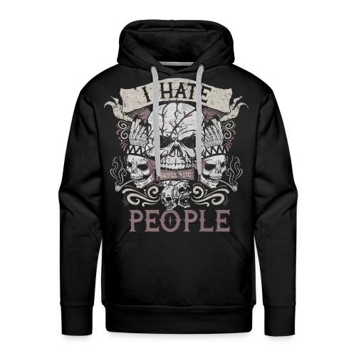 I hate people skull shirt - Men's Premium Hoodie