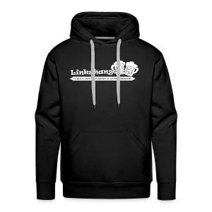 Linkshangendj Logo Wit - Mannen Premium hoodie
