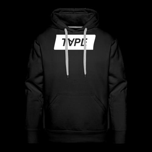 TAPE SHAPE WHITE - Mannen Premium hoodie