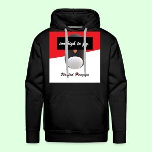 W. Penguin Logo w/ Background - Männer Premium Hoodie