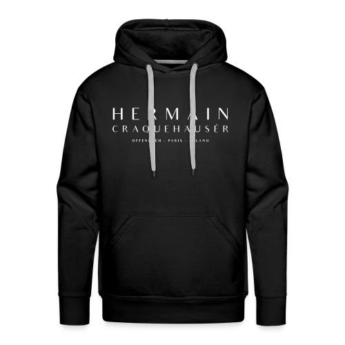 Blankoscheque-Weiß auf Kaiser-Nero-Schwarz - Männer Premium Hoodie