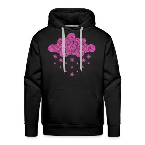 nuage rose et flocons vacances d'hiver - Sweat-shirt à capuche Premium pour hommes