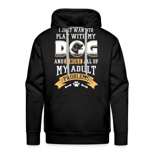 Ich Will Nur Mit Dem Hund Spielen Geschenk Idee - Männer Premium Hoodie