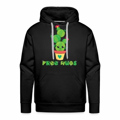 FREE HUGS - Kakteen Comic Kaktus Geschenk Shirts - Männer Premium Hoodie
