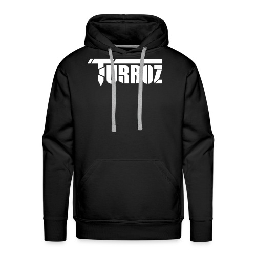 Turboz logo white text - Men's Premium Hoodie