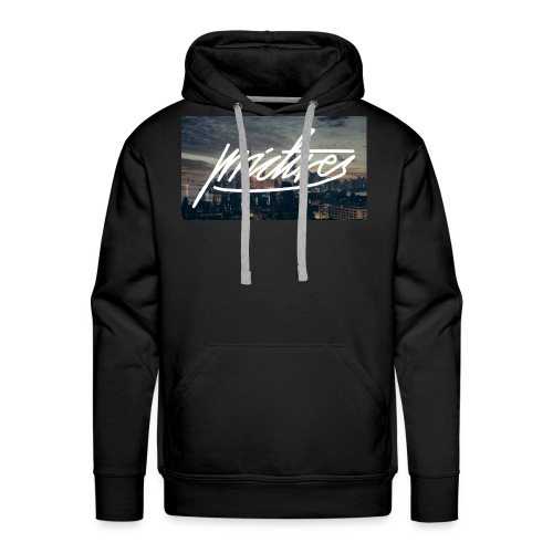 Skyline at night logo large - Männer Premium Hoodie