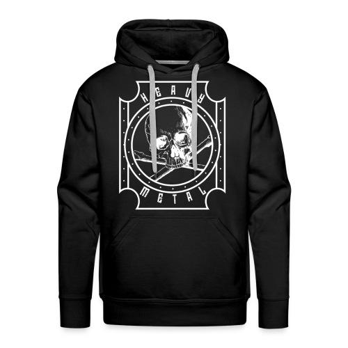 Heavy Metal Skull White - Männer Premium Hoodie