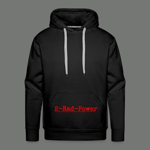 2-Rad-Power Logo Rot/Schwarz - Männer Premium Hoodie