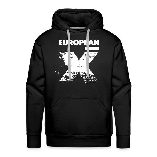 European X / White Logo - Mannen Premium hoodie