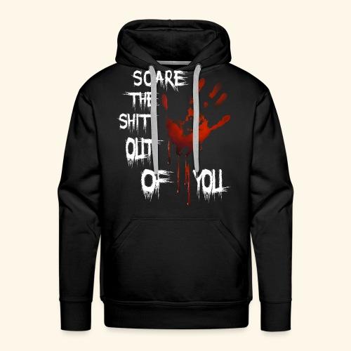 Scare the shit out of you - Sweat-shirt à capuche Premium pour hommes