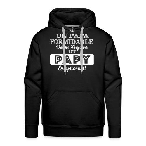 Grand Père - Papy T shirt - Un Papa Formidable - Sweat-shirt à capuche Premium pour hommes