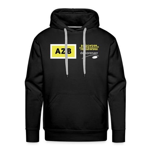 AZB Shirt Zwart Wit geel - Mannen Premium hoodie