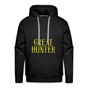 great hunter - Bluza męska Premium z kapturem