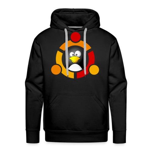 UbunTux - Felpa con cappuccio premium da uomo