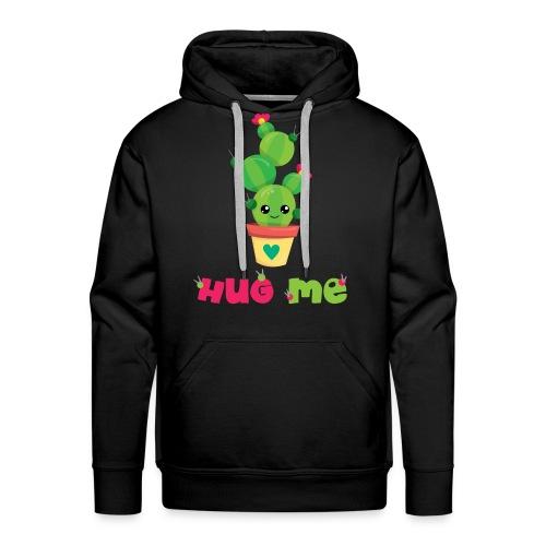 HUG ME - Kakteen Comic Kaktus Geschenk Shirts - Männer Premium Hoodie
