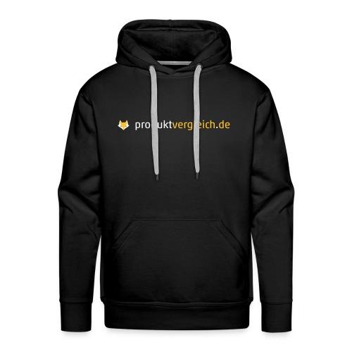 180308 Logo Produktvergleich de white orange - Männer Premium Hoodie