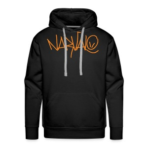 narvalo orange - Sweat-shirt à capuche Premium pour hommes