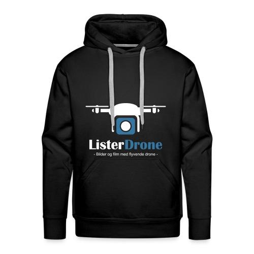 ListerDrone logo - Premium hettegenser for menn