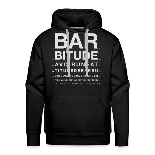 barbitude ophtalmo blanc - Sweat-shirt à capuche Premium pour hommes