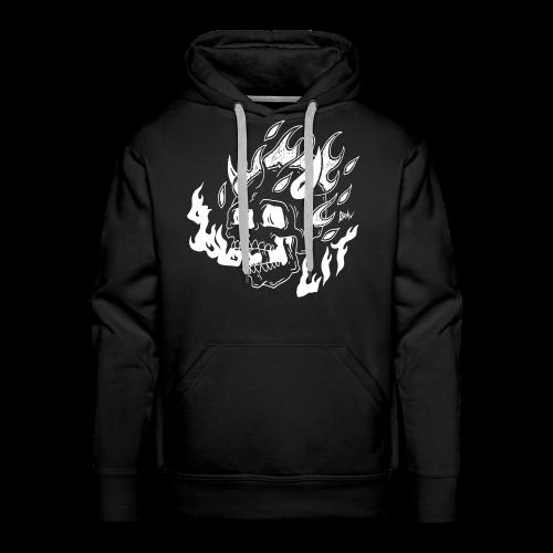 ★ burning skull ★ - Männer Premium Hoodie