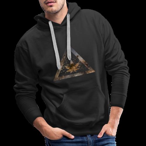 Galaxy Weed Marijuana Triangle with Splashes - Männer Premium Hoodie