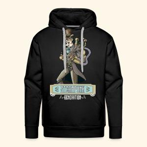 Steampunk Generation X - Sudadera con capucha premium para hombre
