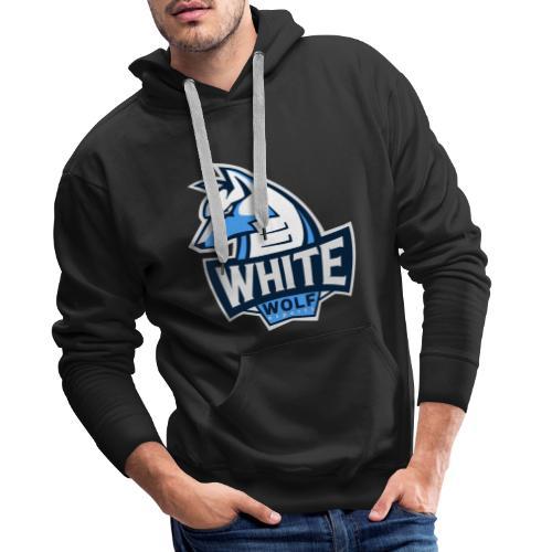 White Wolf Logo - Männer Premium Hoodie
